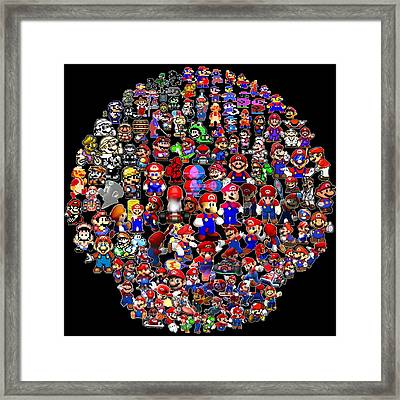 History Of Mario Mosaic Framed Print by Paul Van Scott