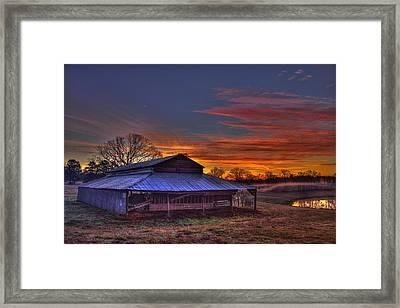 His Works Sunrise Framed Print by Reid Callaway