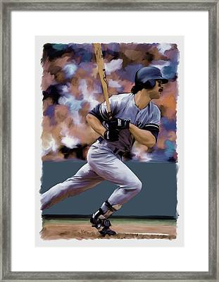 Hit Man  Don Mattingly  Framed Print by Iconic Images Art Gallery David Pucciarelli