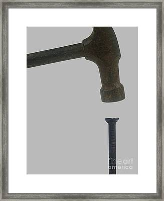 Hit The Nail On The Head - Idiom Framed Print by Ilan Rosen