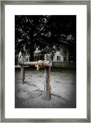 Hitching Post Framed Print by Gary Conner