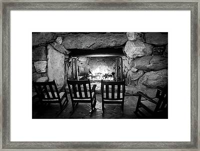 Winter Warmth In Black And White Framed Print by Karen Wiles