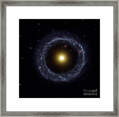 Hoags Object, Ring Galaxy Framed Print by Science Source
