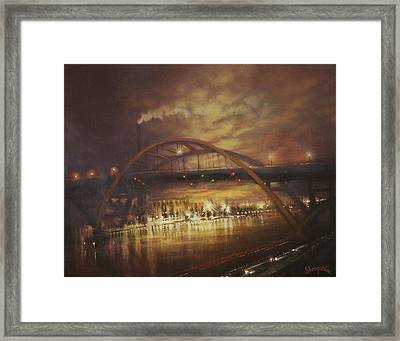 Hoan Bridge Framed Print by Tom Shropshire