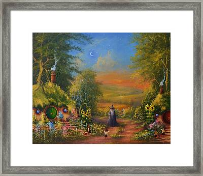 Hobbiton, Disturbing The Peace  Framed Print by Joe  Gilronan