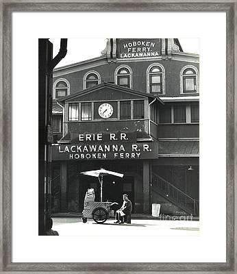 Hoboken Ferry C1966 Framed Print by Erik Falkensteen