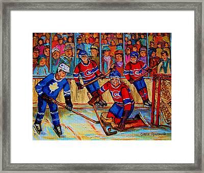 Hockey  Hero Framed Print by Carole Spandau
