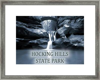 Hocking Hills State Park Poster Framed Print by Dan Sproul
