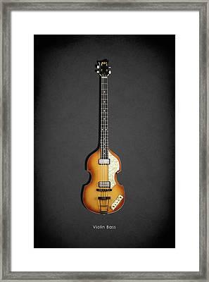 Hofner Violin Bass 62 Framed Print by Mark Rogan