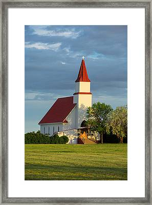Hogeland Church Framed Print by Todd Klassy