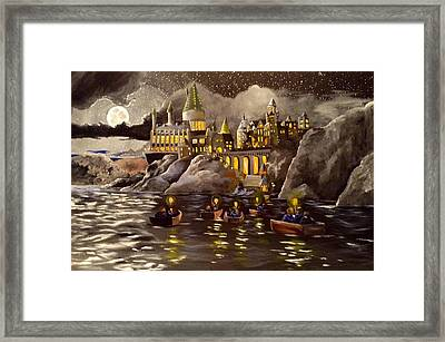 Hogwarts Castle 2 Framed Print by Tim Loughner