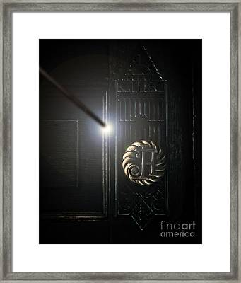 Hogwarts Handle Framed Print by Emily Kay
