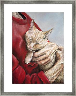 Hold Me Tight Framed Print by Charlotte Yealey