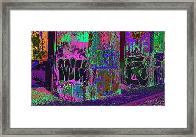 Holding Up The Bridge Framed Print by Kenneth James