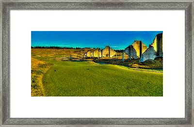 Hole #18 At Chambers Bay Framed Print by David Patterson