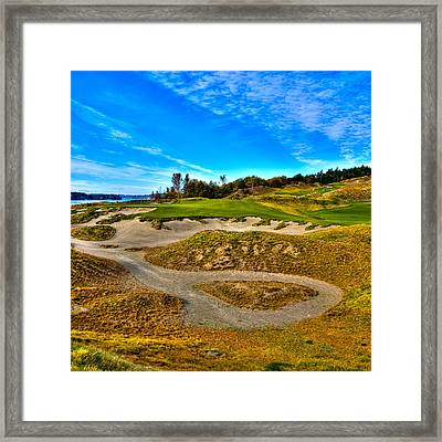 Hole #3 At Chambers Bay Framed Print by David Patterson