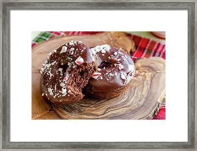 Holiday Breakfast Donuts Framed Print by Teri Virbickis
