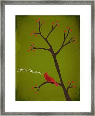 Holiday Greeting Framed Print by Rhianna Wurman