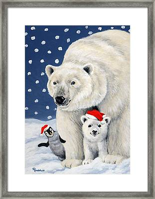 Holiday Greetings Framed Print by Richard De Wolfe