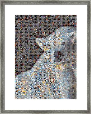 Holiday Hearts Polar Bear Number Two Framed Print by Boy Sees Hearts
