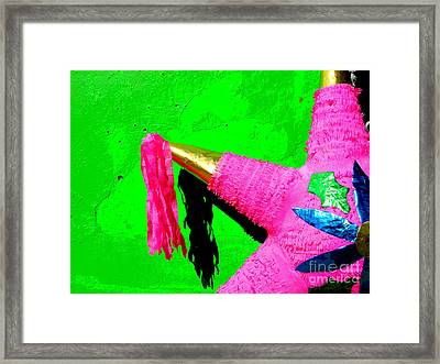 Holiday Pinata By Darian Day Framed Print by Mexicolors Art Photography