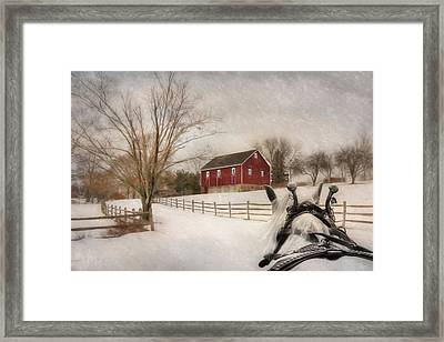 Holiday Ride Framed Print by Lori Deiter