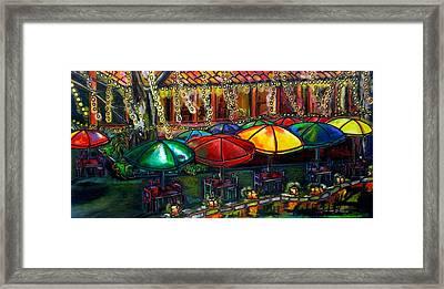 Holiday Riverwalk Framed Print by Patti Schermerhorn