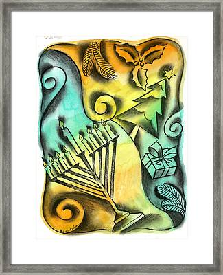 Holiday Season Framed Print by Leon Zernitsky