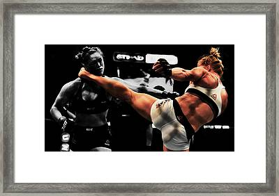 Holly Holm And Ronda Rousey 1a Framed Print by Brian Reaves
