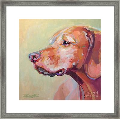Hollys Heart Dog Bela Framed Print by Kimberly Santini
