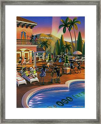 Hollywood Ants Cocktail Party Framed Print by Robin Moline