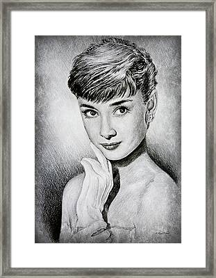 Hollywood Greats Audrey Hepburn Framed Print by Andrew Read