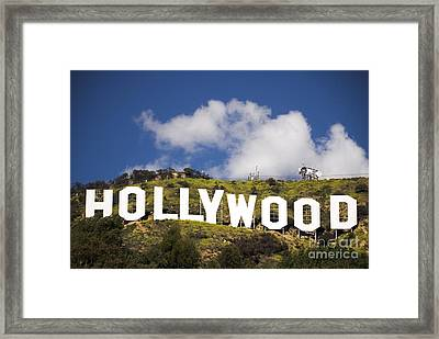 Hollywood Sign Framed Print by Anthony Citro