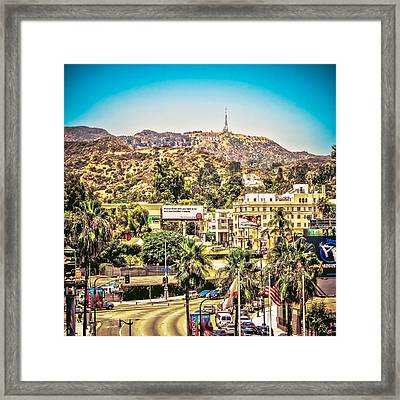 Hollywood Sign View From Dolby Theatre Framed Print by Kinga Szymczyk