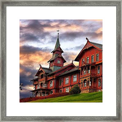 Holmenkollen Hotell Framed Print by Torbjorn Schei