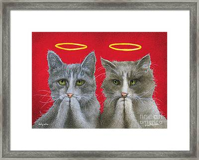 Holy Cats... Framed Print by Will Bullas