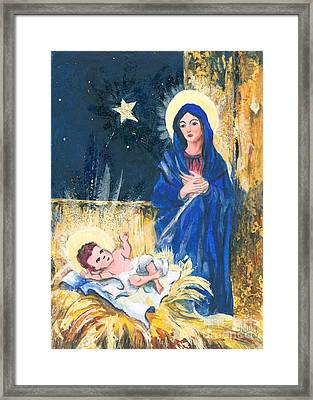 Holy Christmas No. 2 Framed Print by Elisabeta Hermann