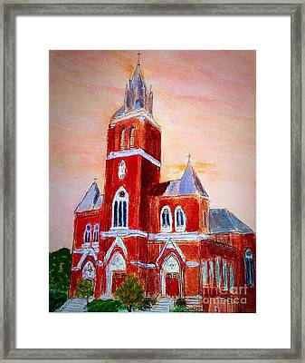 Holy Family Church Framed Print by Anne Sands