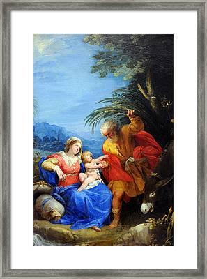 Holy Family Framed Print by Munir Alawi