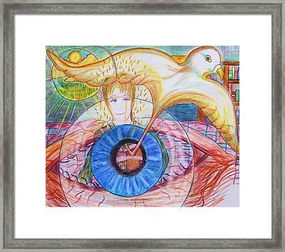 Holy Ghost Shining Eyes Framed Print by Richard  Hubal
