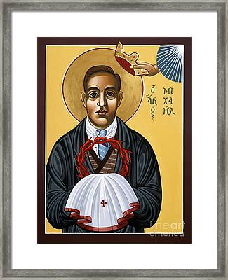Holy New Martyr Padre Miguel Pro 119 Framed Print by William Hart McNichols