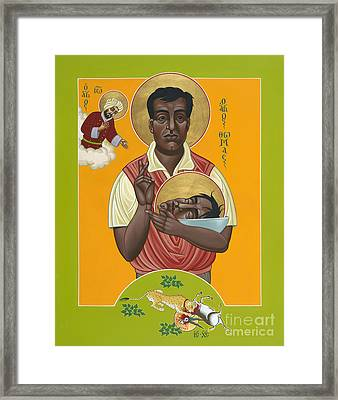 Holy New Martyr Thomas Anchanikal With St John De Brito 153 Framed Print by William Hart McNichols