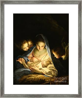 Holy Night Framed Print by Carlo Maratta