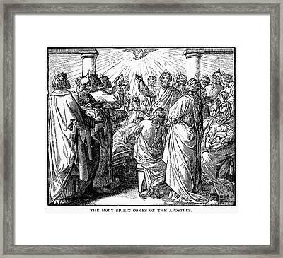Holy Spirit Visiting Framed Print by Granger