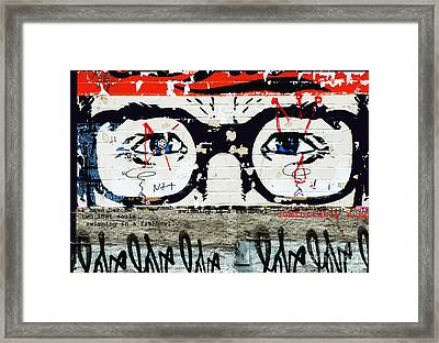 Homage To Pink Floyd Graffiti Framed Print by Anahi DeCanio