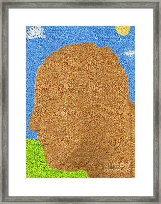 Homage To Seurat In Carpet Framed Print by Andy  Mercer