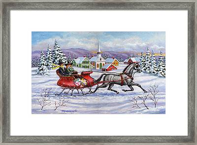 Home For Christmas Framed Print by Richard De Wolfe