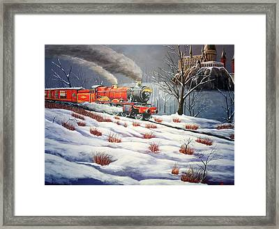 Home For Christmas Framed Print by Robert Link