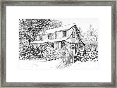 Home For The Holidays Framed Print by Janice Petrella-Walsh