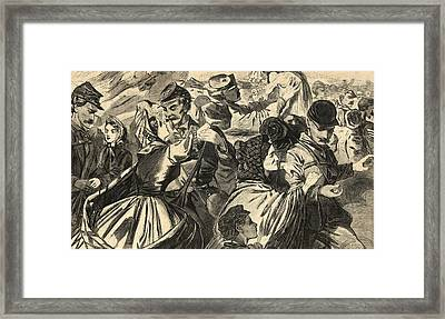 Home From The War  Framed Print by American School